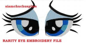 Rarity embroidery eye file in my Etsyshop. by SiamchuchusPlushies