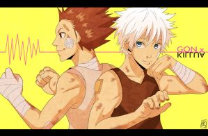 Gon and Killua by Mcgooen