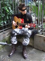 G.I. Joe Soldier with Guitar by C4ppi3