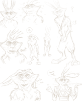 Bunny's sketches by ASAMESHII