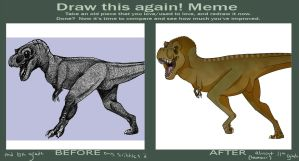 Before and After- T-rex by Jennilah