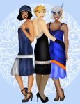 Disney Atlantis Flappers by HelleeTitch