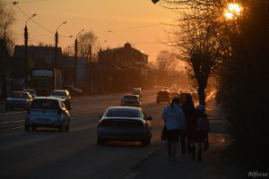 Evening in the street Tupolev by focus1980
