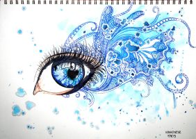 Water Faerie Eyes by krakenese