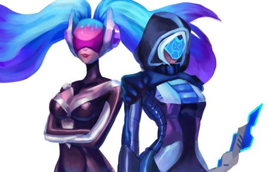 DJ Sona and Project Ashe wip by Misjin