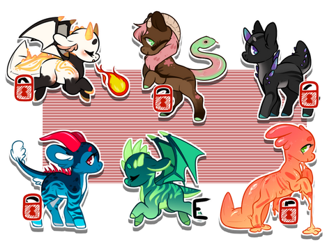 Lil' Beasties Adopts [[ CLOSED ]] by Omega-Fluff