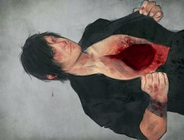 daryl dixon short work -heart by Gregory-Welter