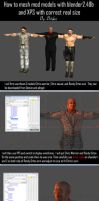 How to mesh mod models with correct realistic size by bstylez