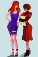 Daphne and Velma by RossoWinch