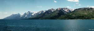 Grand Teton - Jackson Lake panoramic by CryptikFox