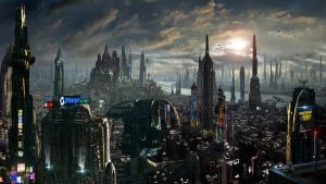 Matte Painting Future City Amazing Facts by rich35211