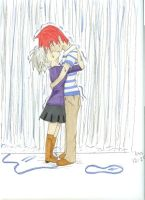 Kiss in the Rain by Lissinater