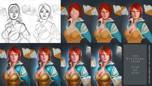 Step By Step (The Witcher 3 : Triss) by pradesta