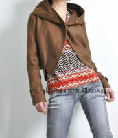 Brown Cotton Croppted Blazer 3 by yystudio