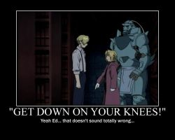 FMA Motivator: On Your Knees by babyunicornart