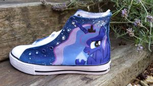 princess luna canvas trainers by LightningChaser