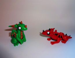 Baby Dragon Sculptures! by ByToothAndClaw