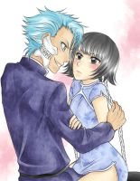 Request: Grimmjow and Soi Fon by nayght-tsuki