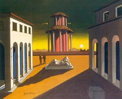 My Art is also inspired to :Giorgio-De-Chirico (1 by DorianoArt