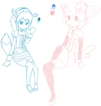 Eevee evolution gijinka Requests by Emosoftwere