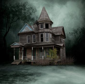 Victorian Old House Stock by mysticmorning