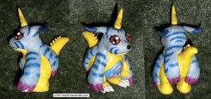 Clay Digimon: Gabumon by HeyLookASign