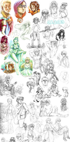 2013 sketchdump - 09.2013 - 01.2014 by MousyM