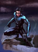 Colab: Nightwing by JeanSinclairArts