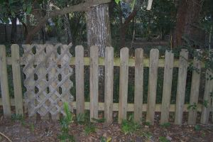 Old Fence and Empty Lot by paintresseye