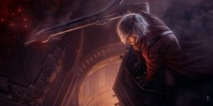 Devil May Cry Dante Tribute with Nero's sword by pierreloyvet