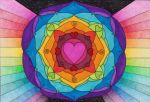 Heart Mandala by Faeriegem
