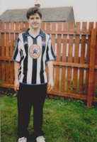 me in Newcastle United footie shirt by WhippetWild
