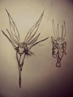 Fairy Sketches by Reenin