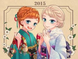 Chinese Elsa and Anna by TheColdQueen