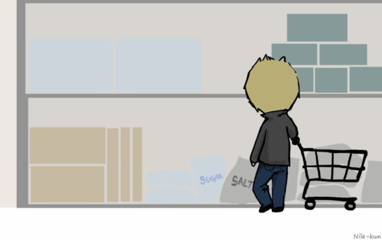 Day 8: Shopping (Destiel version)[Gif] by Nile-kun