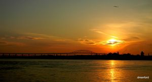Bridge in Sunset by debraM