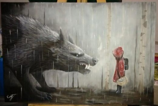Red Riding Hood and the Wolf by Diamond-xD