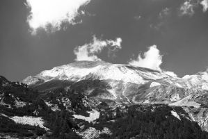 Mount Vihren in black and white by sunflower983