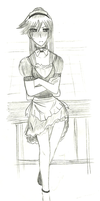 Sketch5 - Akki maid by Kemi242
