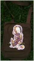 Steampunk Cheshire Cat Bag by IceandSnow