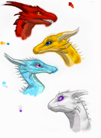 Dragon Practice 3:  Misc. Heads by Sky-Lily
