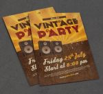 Photoshop vintage flyer free download by Free-designs-net