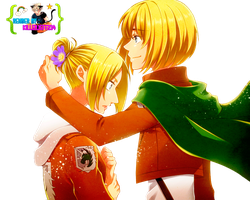 Render- Annie and Armin by KillerJeff234
