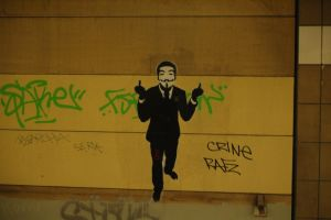 Fuck you ! Anonymous Street Art Berlin by OpGraffiti