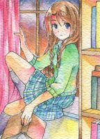 ACEO Commission Shoko by PastelCake