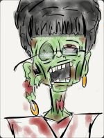 ''Mrs. Schoening: Zombie'' COLORED by ENDYS-ART-HELL