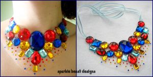 Small Primary Color Gem Bib by Natalie526