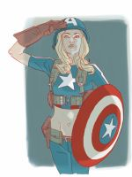 Captain girl america 2 by kartinka75