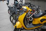 Yellow Vespa by fenderbox