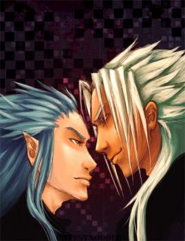 Xemnas+Saix by cheesynoodle